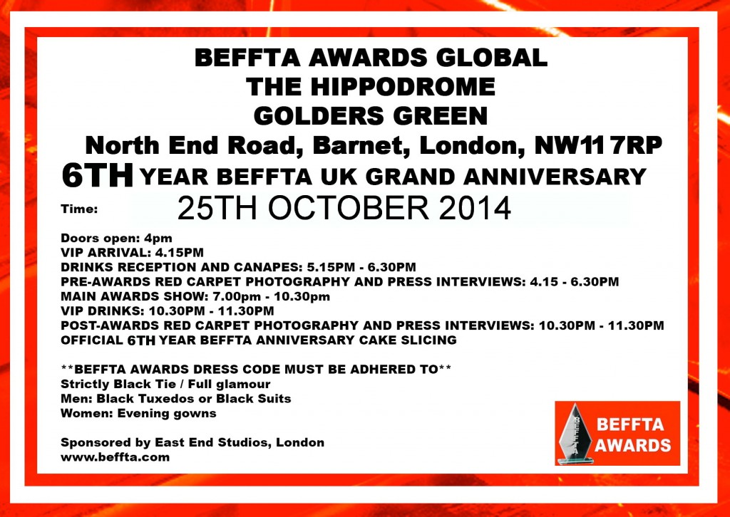 25TH INVITE CARD - BEFFTA
