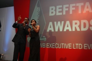BEFFTA Awards hosts Richard and Miss London