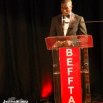 BEFFTA BESST MALE MODEL 2011: Dwain Stephens giving his acceptance speech