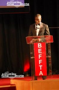 BEFFTA BESST MALE MODEL 2011: Dwain Stephens giving his acceptance speech