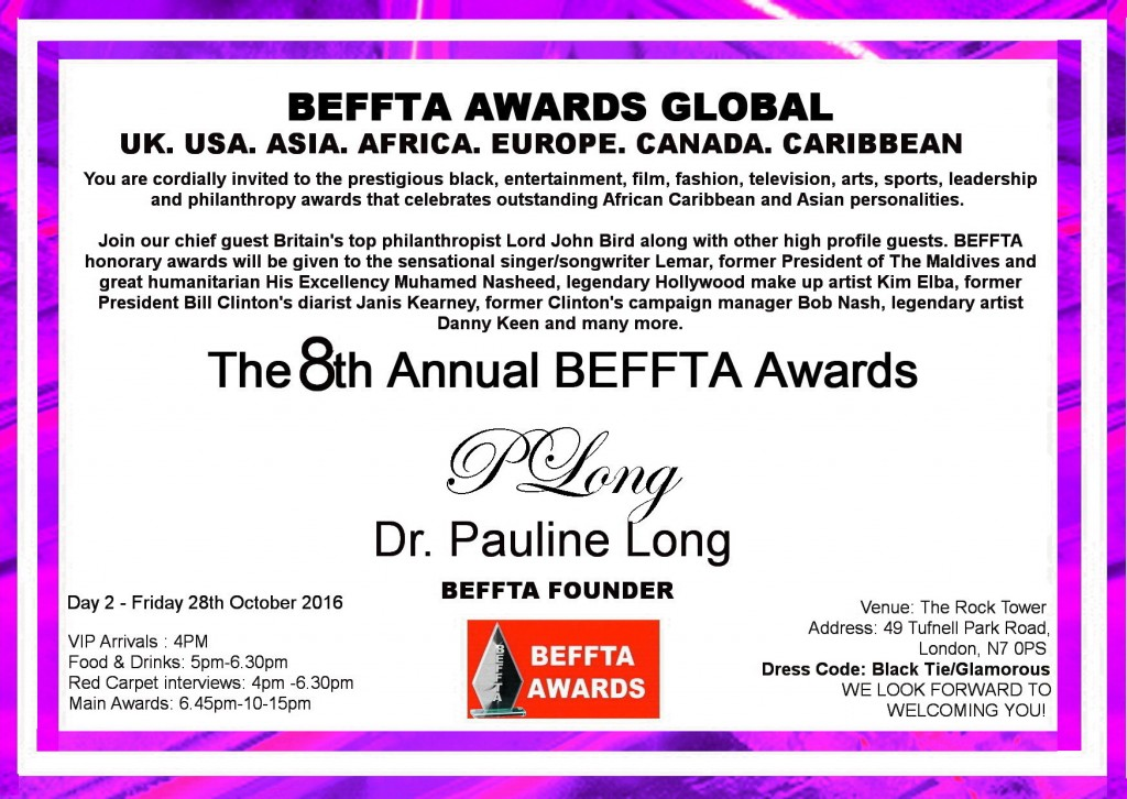 8TH Annual BEFFTA UK VIP INVITE DAY TWO - 28TH OCTOBER 2017