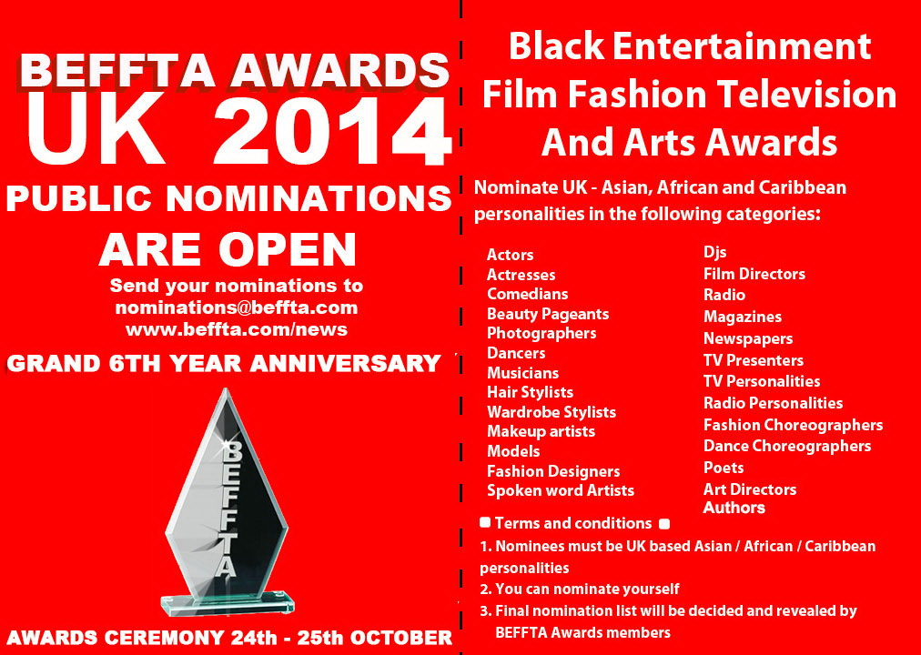 BEFFTA UK NOMINATIONS 2014