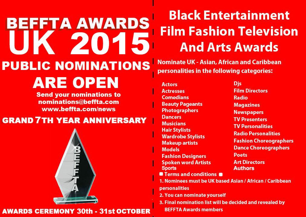BEFFTA UK 2015 NOMINATION CATEGORIES
