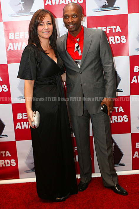Xfactor Andy Abraham and wife at BEFFTA Awards