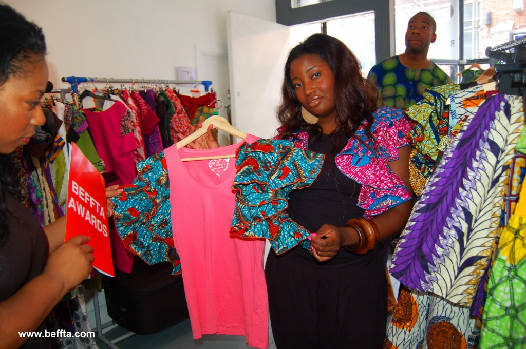 Ayikai Couture head designer talks to BEFFTA TV crew about her collection