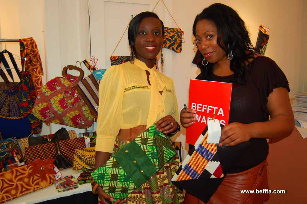 Yaa Ataa Couture head designer shows off one of her handmade creations
