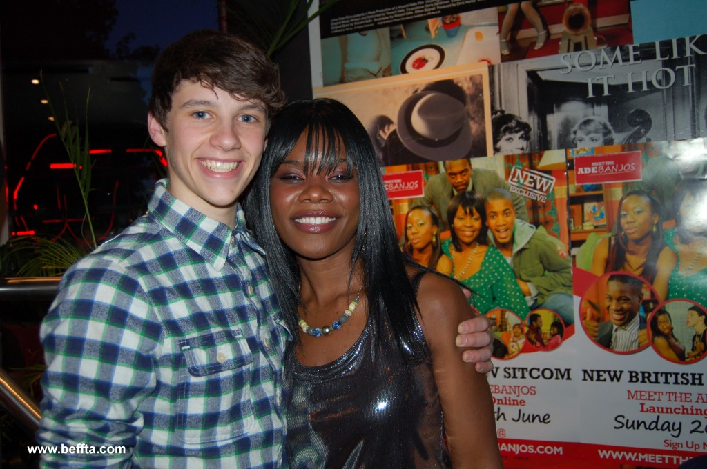 BEFFTA Member Ethel Elaka shared a moment with the happy Jordan Coulson who play Kevin, the annoying neighbour