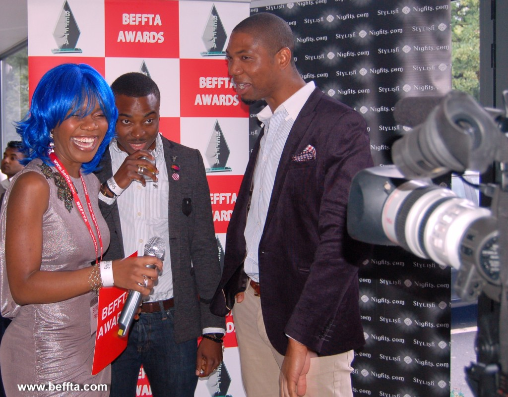 BEFFTA Member Ethel Elaka sharing a light moment with guests at FAB magazine launch