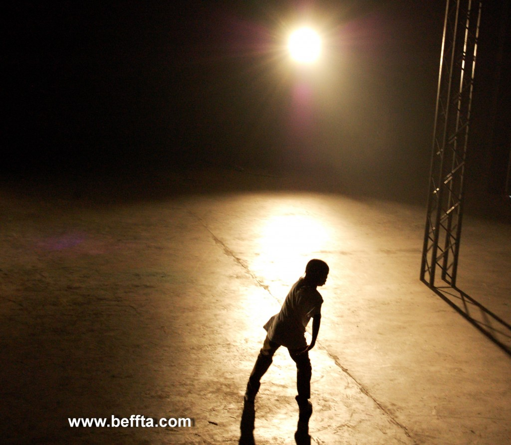 Got To Dance winner Akai rehearsing at East End Studios for his performance at BEFFTA UK awards 2011