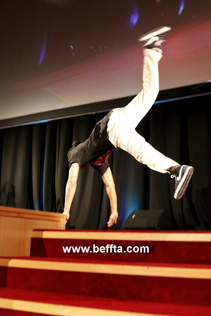 Dancer and Choreographer Turbo entertains the BEFFTA awards audience
