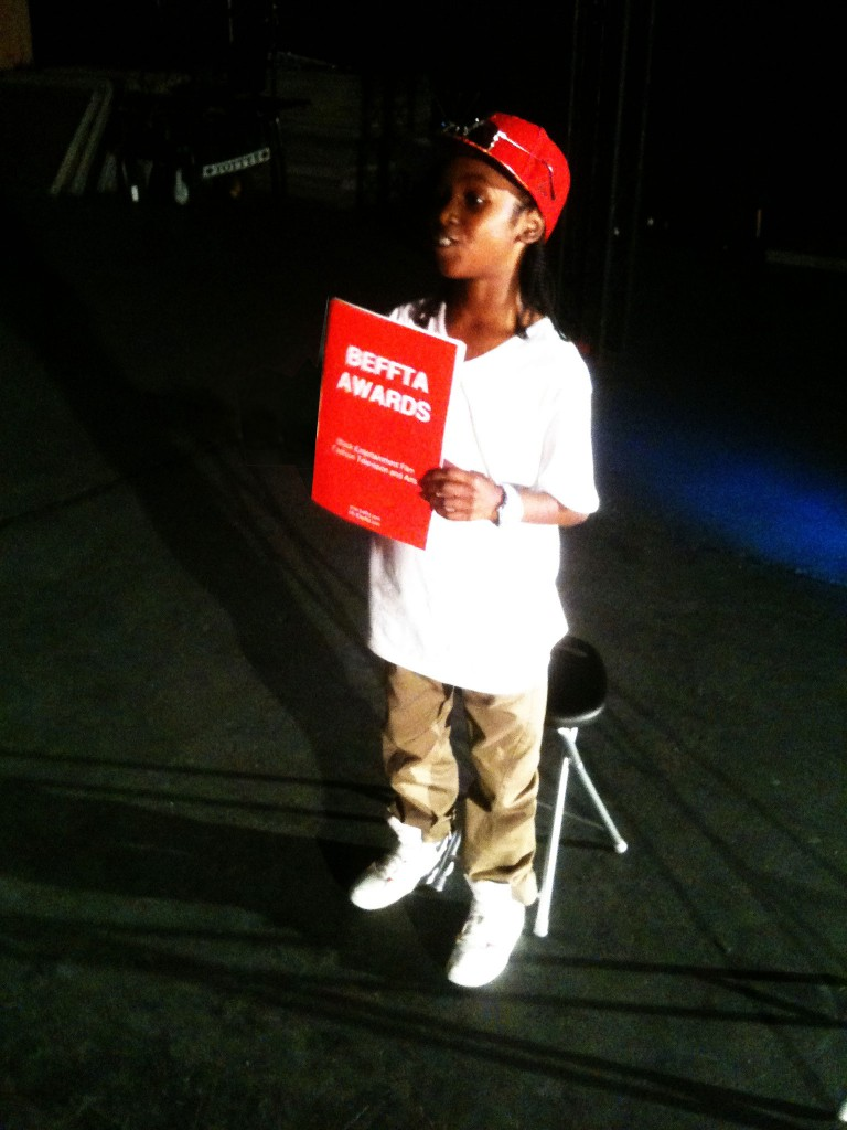 Got To Dance TV show winner Akai at East End Studios rehearsing for his performance at BEFFTA awards UK 2011