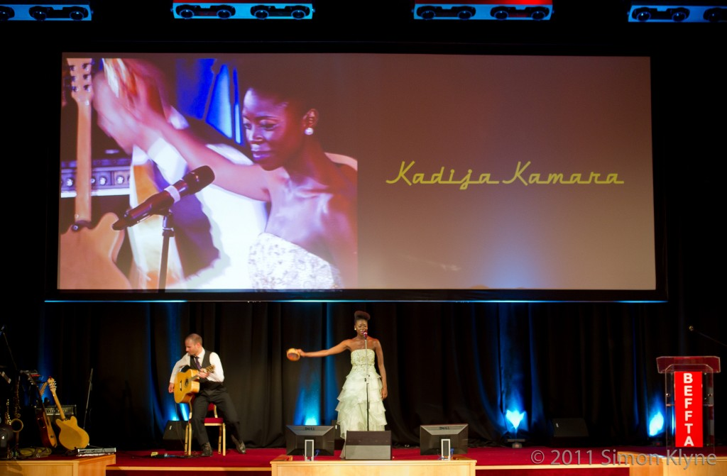 2011 Oct 22 - BEFFTA Award Show 2011 - Kadija Kamara performing. Photo by Simon Klyne