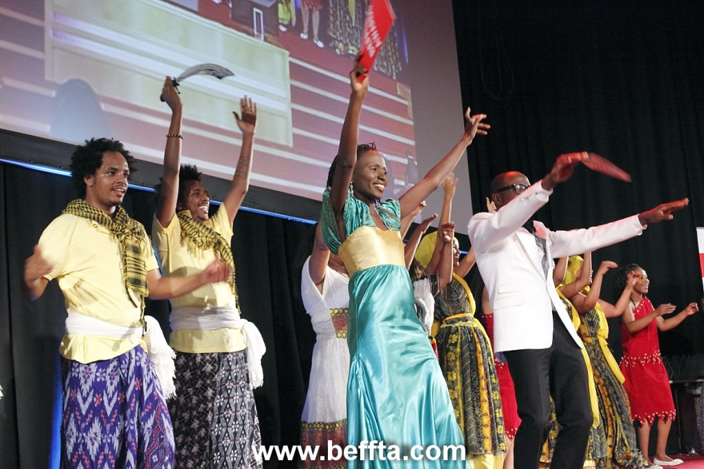 International dance group Dan-Kira opens up BEFFTA UK awards 2011 by ushering in hosts Pauline Long and Sama Ndango