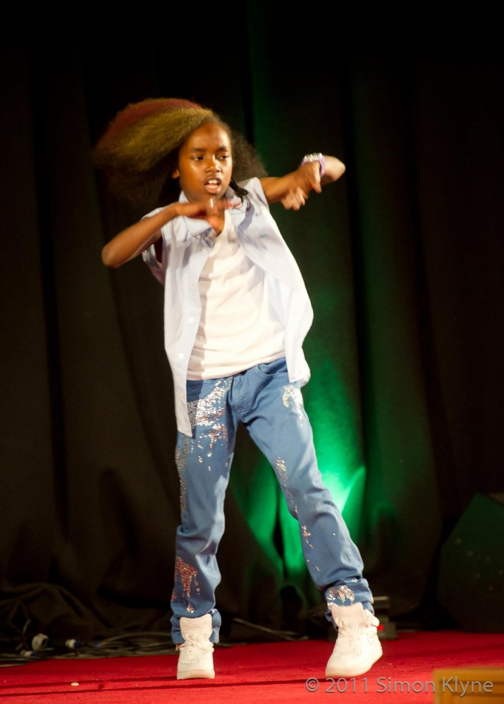 Akai gets the crowd excited with his electrifying dance moves