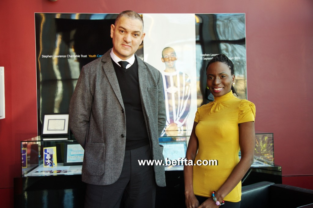 BEFFTA Founder Pauline Long and CEO of The Stephen Lawrence Centre Paul Anderson-Walsh during a recent tour of the centre