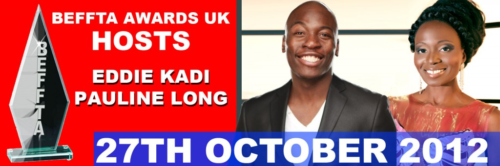 Eddie Kadi and Pauline Long - Hosts of BEFFTA UK awards 2012