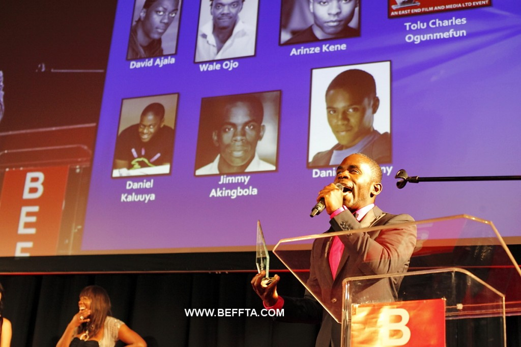 BBC Holby City star Jimmy Akingbola receives BEFFTA BEST TV ACTOR 2011
