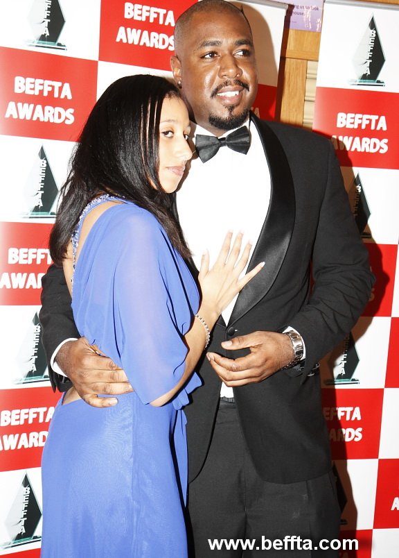 BEFFTA BEST EVENTS PROMOTER NOMINEE UK UNSIGNED HYPE DUANE FLAMES AND MRS FLAMES AT BEFFTA AWARDS