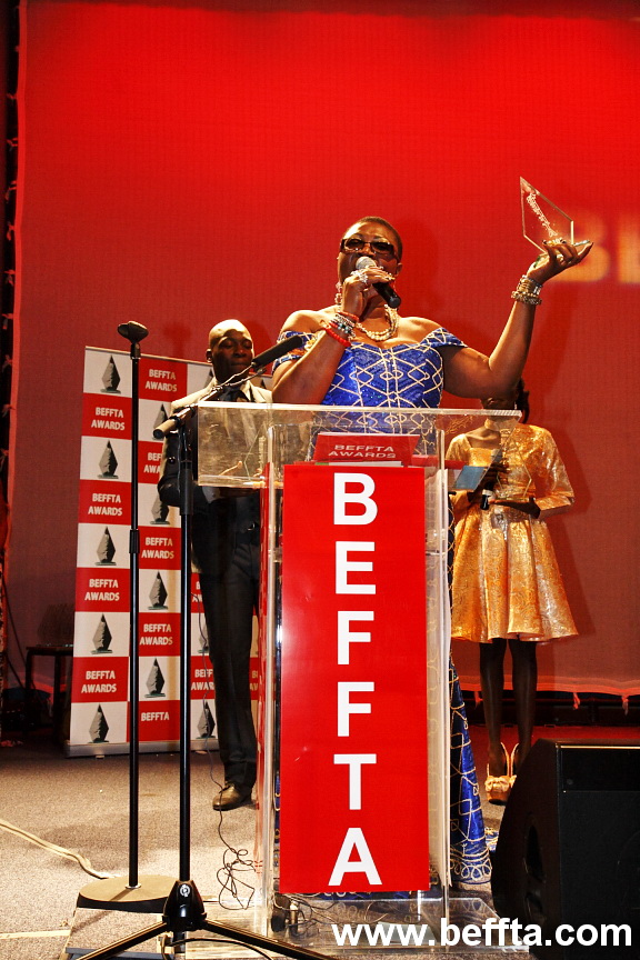 PRINCESS 'DEUN ADEDOYIN - SOLARIN PICKED UP SPECIAL AWARD BEFFTA MEDIA ICON