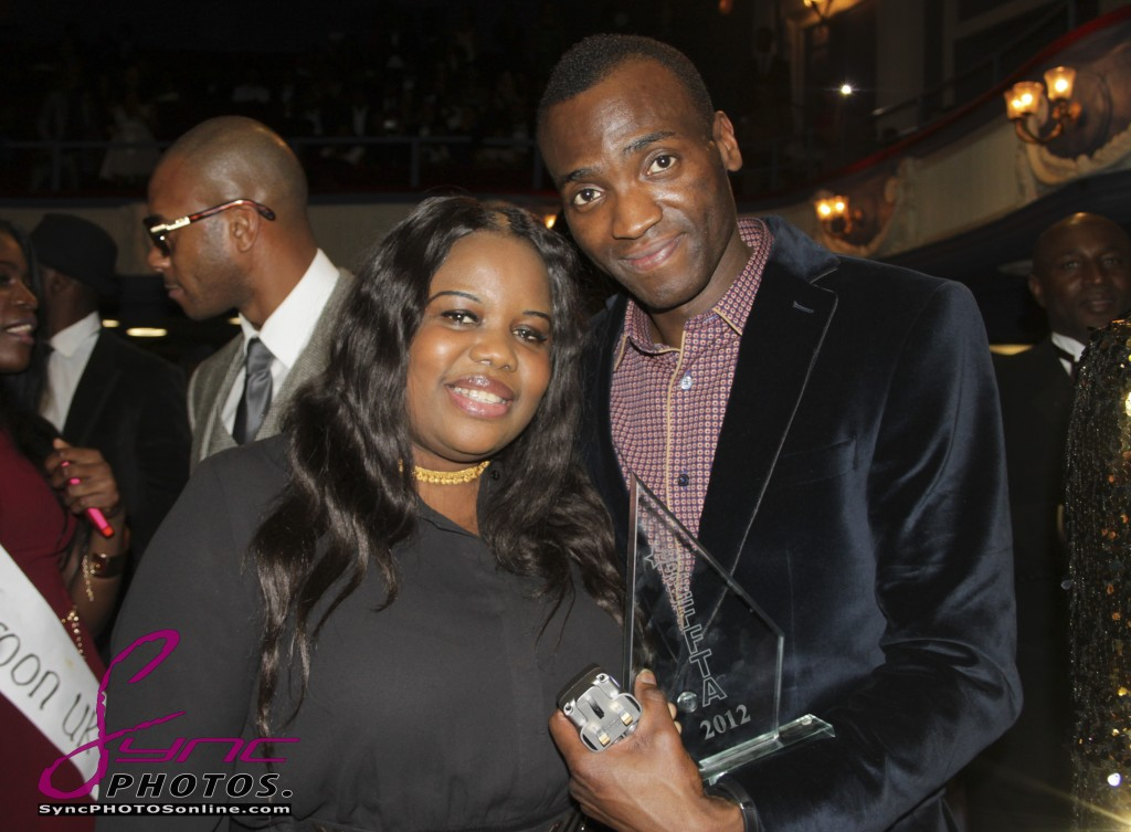 BEFFTA BEST EVENT PROMOTER nominee and pr guru Theodora Ibekwe with winner of BEFFTA BEST PHOTOGRAPHER Daniel of Sync Photography