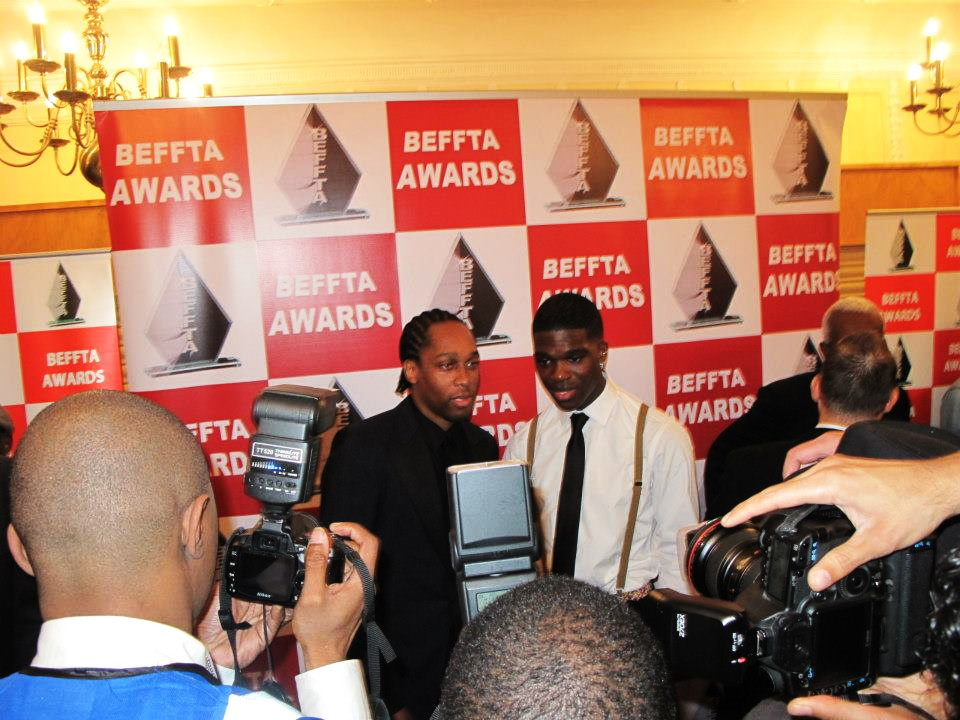 SINGER LEMAR AND BEFFTA BEST MALE ACT NOMINEE INFECTA ON THE RED CARPET