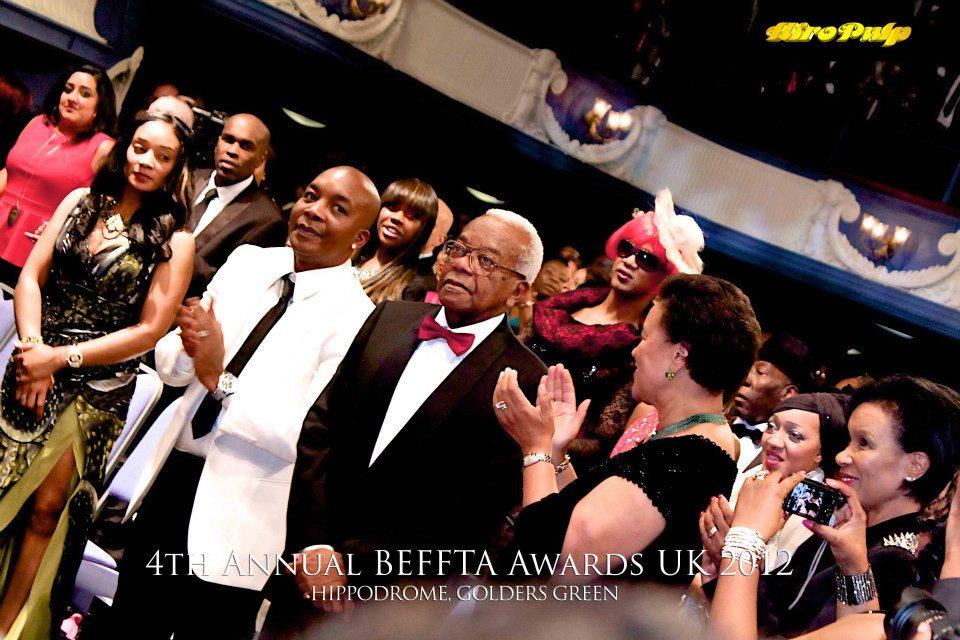 Sir Trevor McDonald receives BEFFTA LIFETIME ACHIEVEMENT AWARD with a standing ovation at the prestigious BEFFTA UK 2012