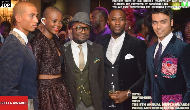 Designer Kwame Koranteng, BEFFTA award winning model Lisette Mibo, supermodel Adrian Vincent and top models graces the press and nomination launch