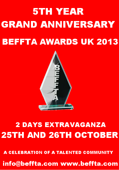 BEFFTA AWARDS 2013 - 25TH AND 26TH OCTOBER