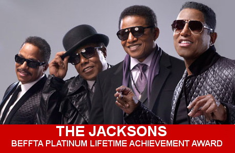 THE JACKSONS RECEIVE BEFFTA PLATINUM LIFETIME ACHIEVEMENT AWARD