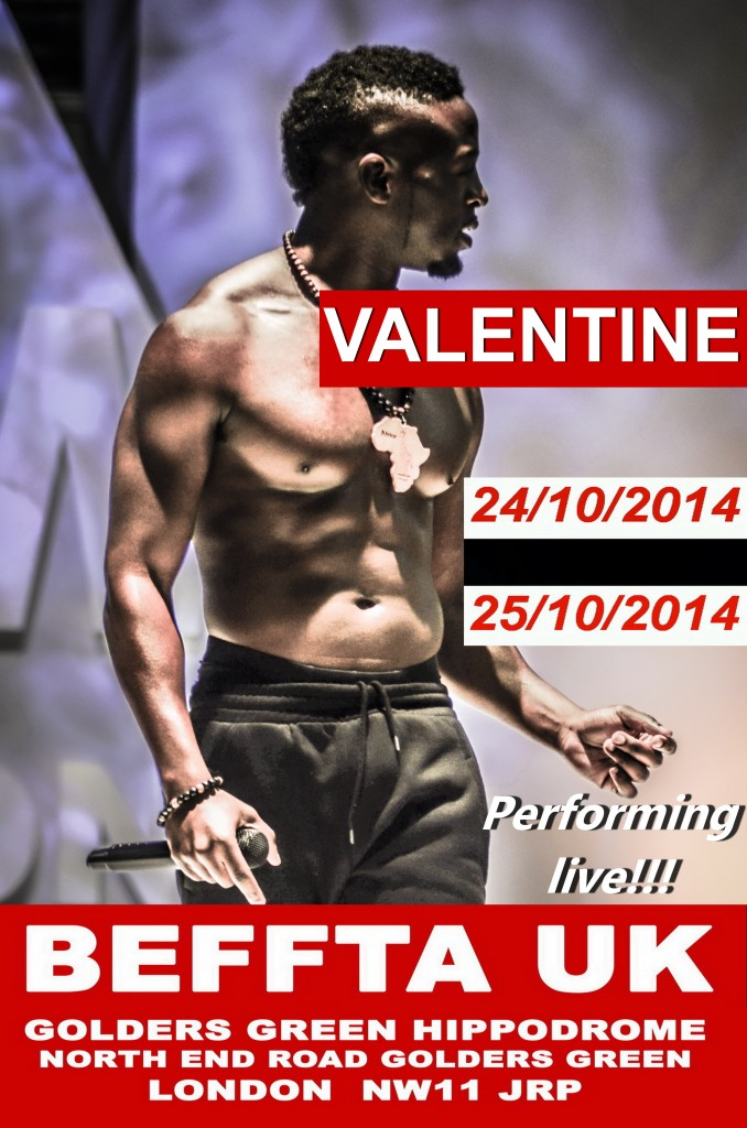 VALENTINE PERFORMING LIVE AT BEFFTA 2014